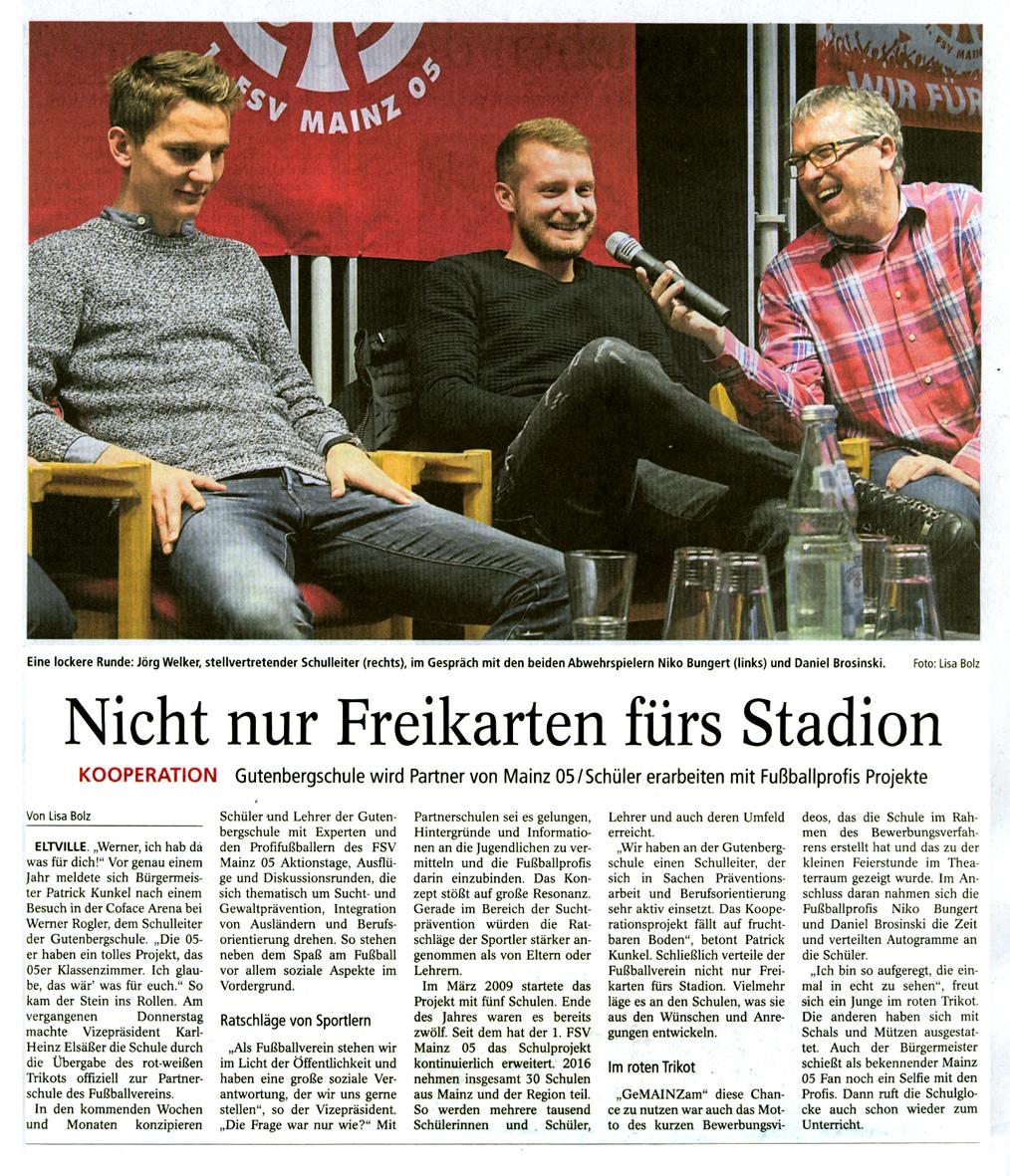 Zeitungsartikel Kickoff-Mainz05